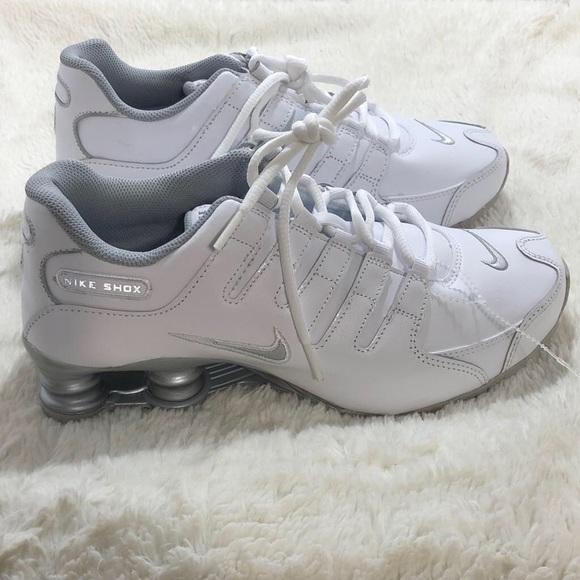 0e5c144de68 discount nike womens shox nz mesh up shoes silver pinknike running  shoesnike roshe d0ddd cdccb  low price nike shox nz si white silver grey sz  6ywomen 7.5 ...
